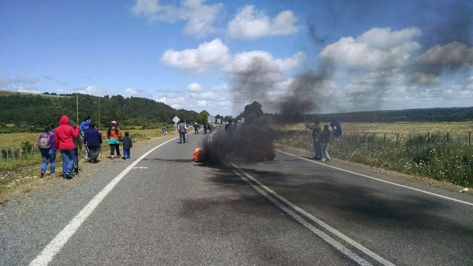 movilización mapuche Curacautín