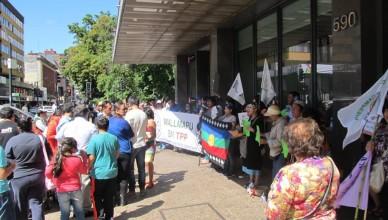 Imágenes protesta en Temuco contra TPP