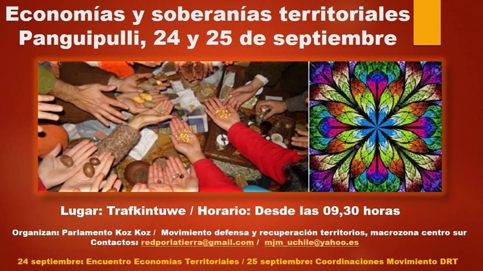 Afiche encuentro economias y soberanias territoriales